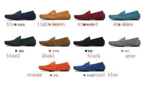 British Mens New Suede Driving Shoes Loafers Slip On Fashion Comfy Moccasin Tide