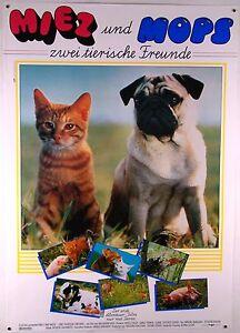 Miez-und-Mops-Zwei-tierische-Freunde-Filmplakat-DIN-A1-gerollt