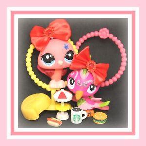 Authentic-Littlest-Pet-Shop-LPS-2259-2340-SPARKLE-Peacock-Woodpecker-Bird