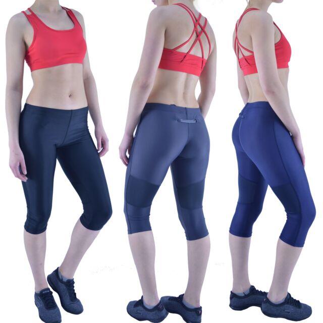 Kirkland Reversible Cropped Sports Pants UK 10 Grey /& Pink Gym Yoga Leggings