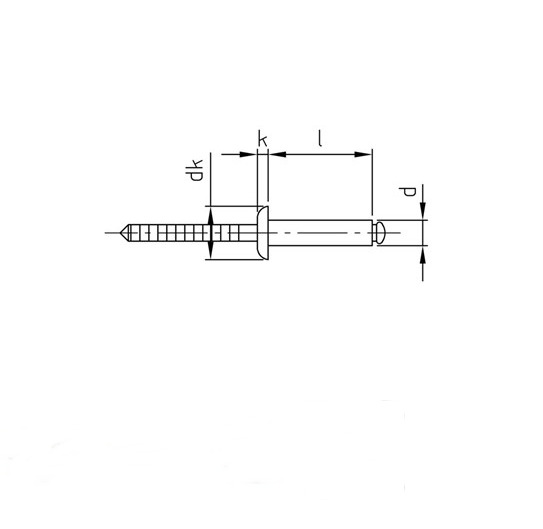 - Popnieten Nieten Blindnieten DIN 7337 m 20 St/ück Senkkopf 3,0 X 8 mm Edelstahl A2