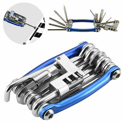 Multi Tool Bicycle Bike Allen Hex Keys Screwdriver Chain Link Tool BMX ROAD