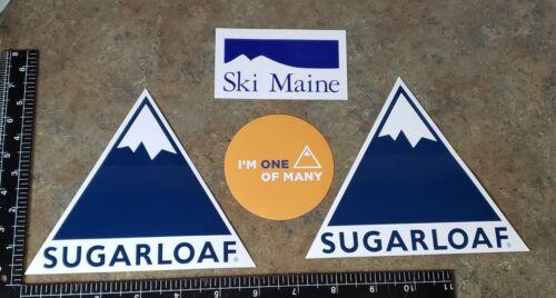 3 SUGARLOAF SKI AREA MAINE STICKER//DECALS  PLUS A SKI MAINE STICKER