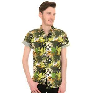 Dinosaurier Safari Aufdruck Hemd Von Run Und Fly Retro Rockabilly Hawaii S/ M/