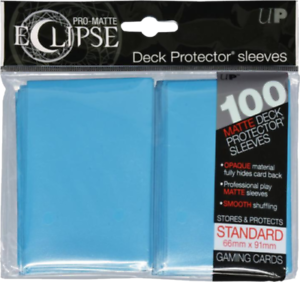 Ultra PRO SKY LIGHT BLUE ECLIPSE 100ct Deck Protector Sleeves 85603