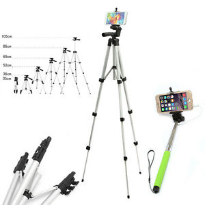 tripod phone mount wired selfie stick monopod for iphone 6s smartphone ebay. Black Bedroom Furniture Sets. Home Design Ideas