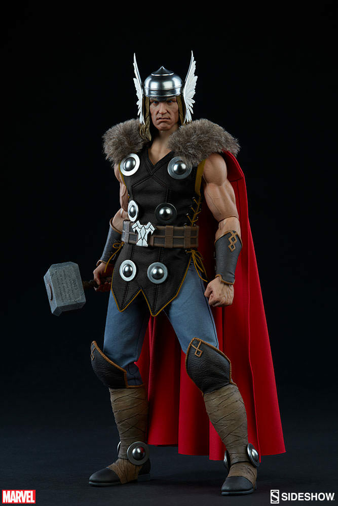 Marvel Collectible 12 Inch Action Figure 1 6 Scale Series - Thor Sideshow 100172