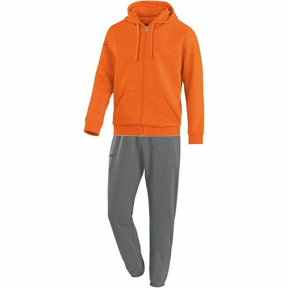 Jako Calcio Tuta da Jogging Team con Cappuccio Uomo Sport Tuta Giacca Pantaloni Arancione