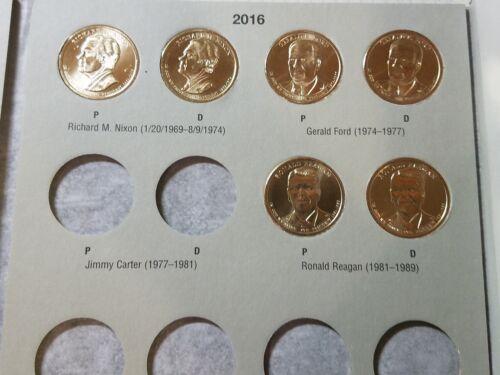 P/&D BU Unc HE Harris 78 Coin Set Presidential Gold Dollar Washington-Reagan