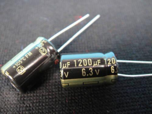 2 x 1200UF 6.3Volt Capacitor 105°C
