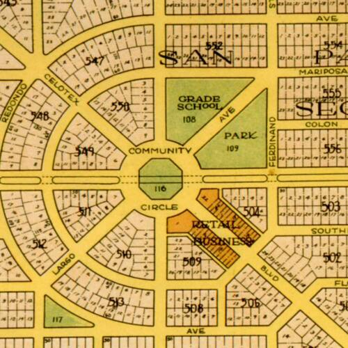 CLEWISTON Florida General Plan City MAP Vintage Reprint Print circa 1925 24x36