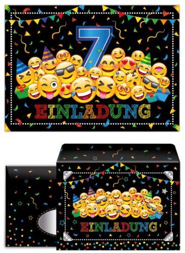 Geburtstag siebte Kindergeburtstag Umschläge Geschenktüten Einladungskarten 7