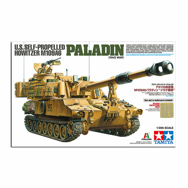 TAMIYA 37026 US Howitzer M109A6 Paladin Iraq Ltd Ed 1 35 Military Model Kit