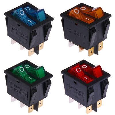 Rocker Switch 12V 6B35G Ventilador anular grabada con láser Verde Dual LED de encendido//apagado