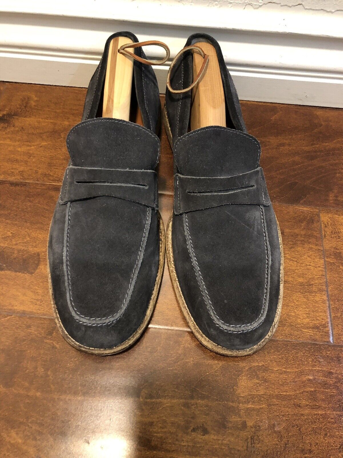 Frye Mens shoes Suede Slip On Grey Sz 10.5 D US Excellent Condition