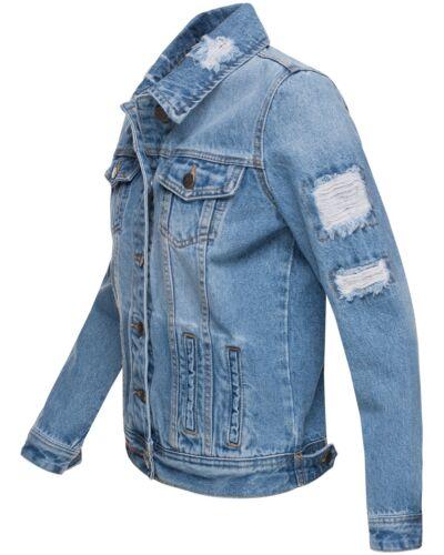 Navahoo Damen Jacke Übergangsjacke  Jeans Frühling Destroyed Jeansjacke Pamuyaa