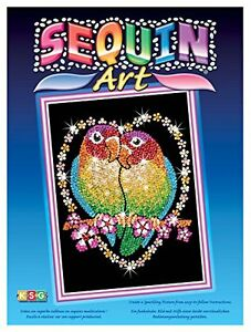 Ksg-Arts-and-Crafts-Sequin-Art-1002-Love-Birds-Picture-Kit-Containing-275mm-x-37