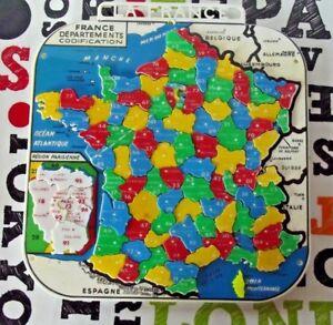Ancien-Puzzle-de-la-France-departement-plastique-Mob-codification-jeu-educatif