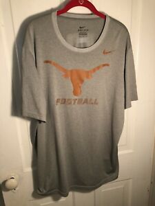 New Nike Dri-Fit University of Texas Longhorns men/'s XL long sleeve t-shirt gray