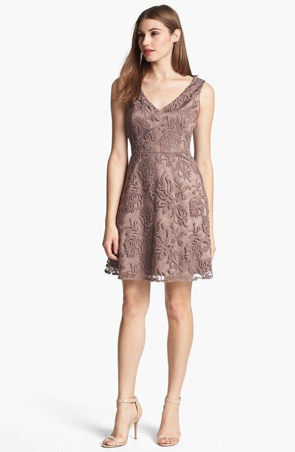 Adrianna Papell Soutache Dress  ( Size 14)