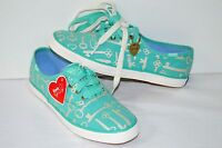 Taylor Swift Keds Limited Edition Champion Key Print Turquoise Sneakers 5