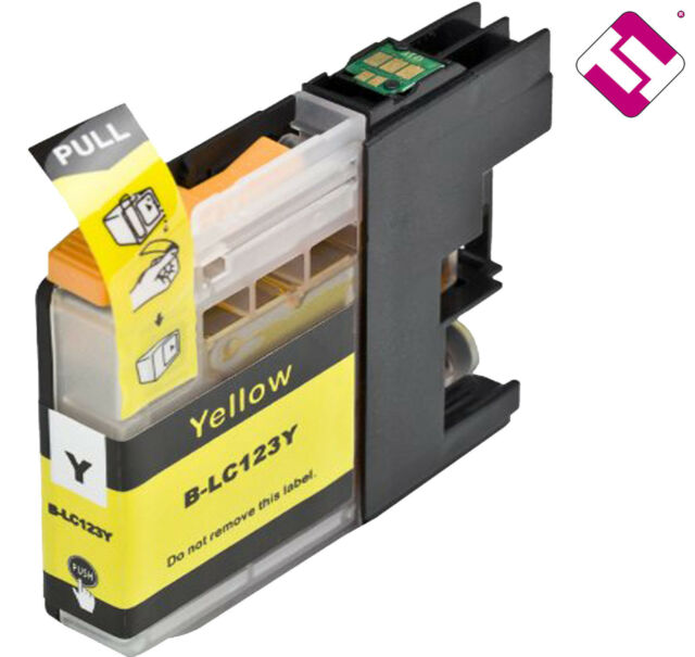Ink LC123Y V2 Yellow Compatible MFC J4610DW Brother Cartridge Yellow Non