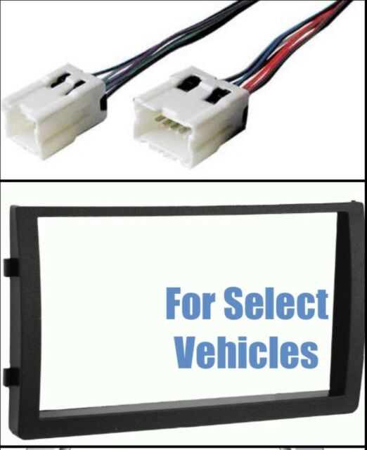 Double Din Stereo Radio Install Mount Dash Trim Kit   Wire