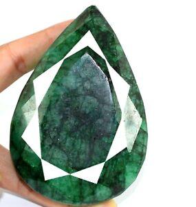 Brazilian Green Emerald Natural Loose Gemstone 1443 Ct Pear Cut