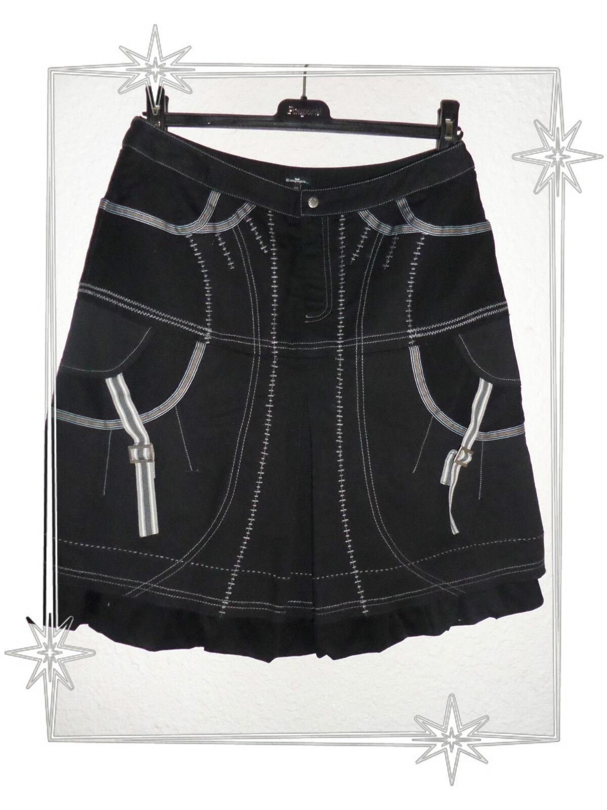 A  -  Jupe Fantaisie Boule Multi Tissus black  Et Compagnie size 42