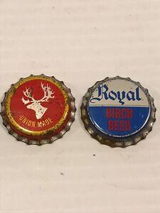 ST-JOHN-039-S-NEWFOUNDLAND-NOS-Bottle-Cap-Lot-Of-2-Dominion-Ale-Royal-Beverages