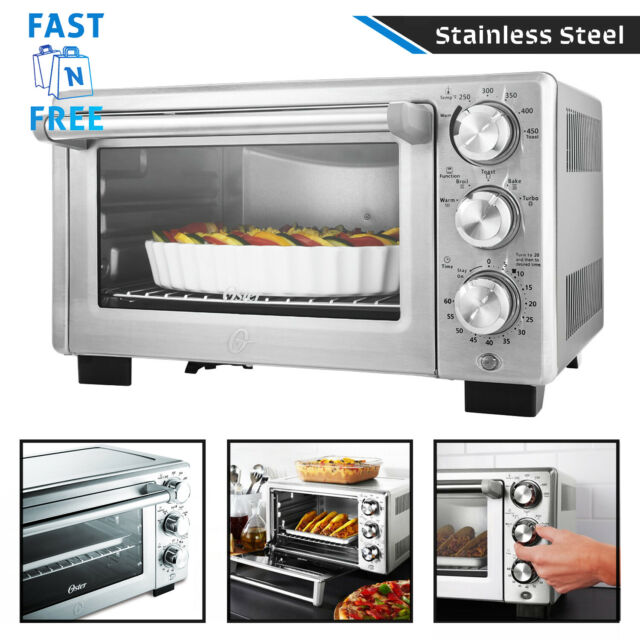 Countertop Convection Toaster Oven Kitchen Food Pizza Maker Removable Rack Trays
