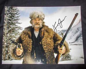 SHOT-GUN-Kurt-Russell-Signed-Hateful-Eight-11x14-Photo-EXACT-Proof-COA