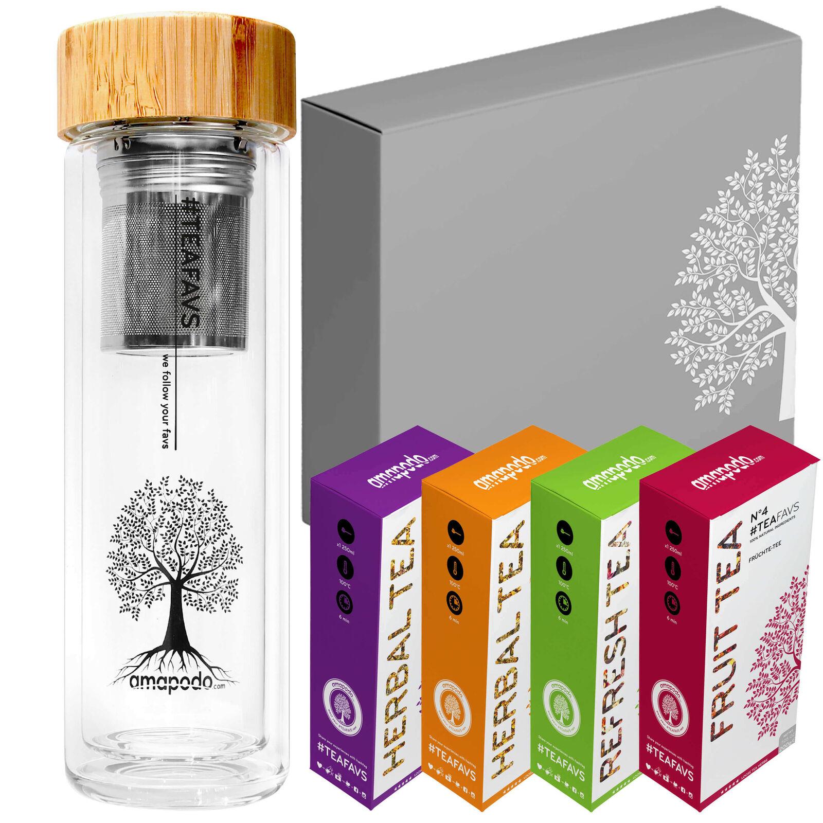 Amapodo Teekanne Tee Box Angebot - Geburtstags-Geschenk Set für Frauen & Männer | Ein Gleichgewicht zwischen Zähigkeit und Härte