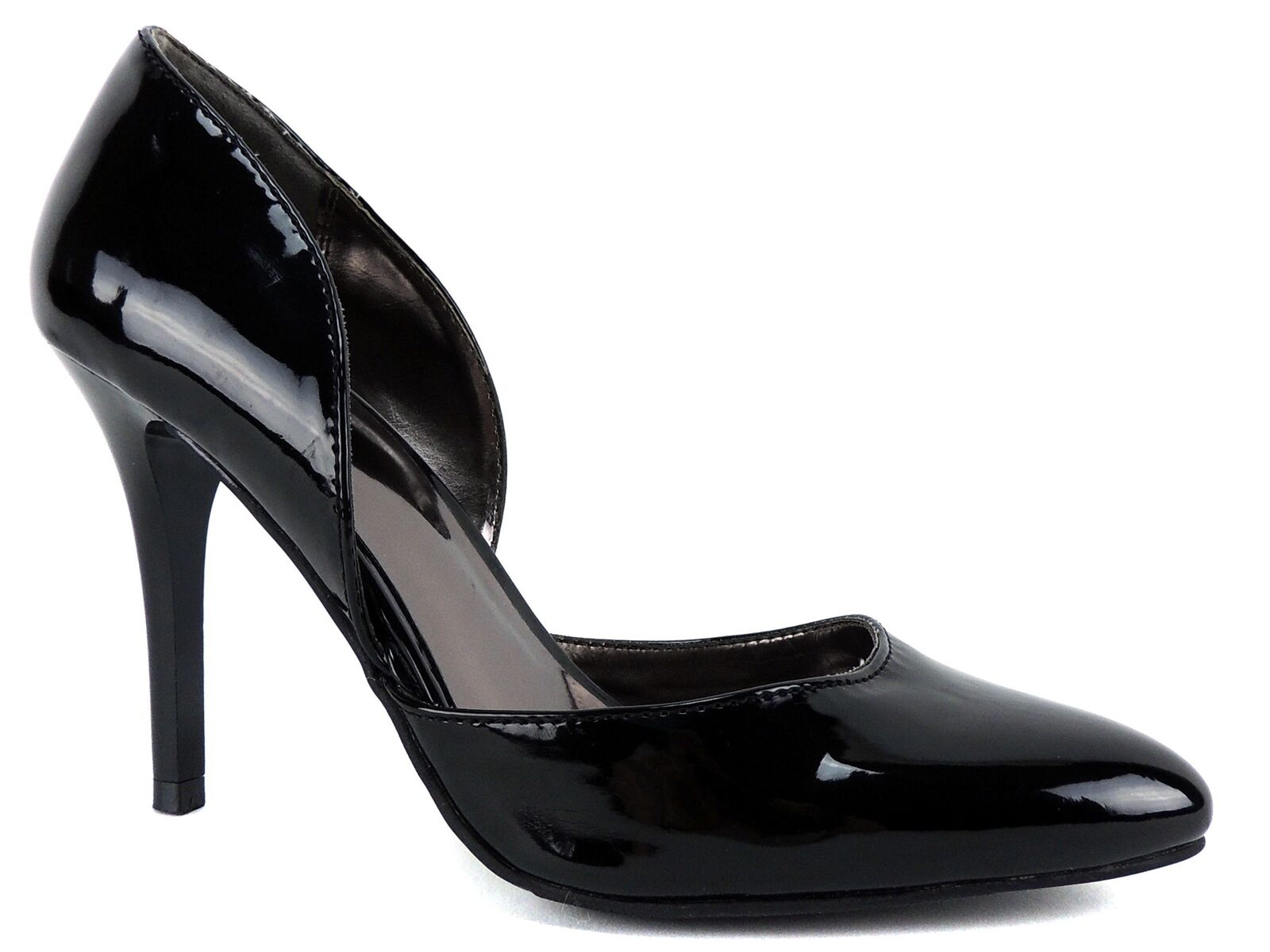 Material Girl Women's Lexy d'Orsay Pumps Black Patent Size 9 M