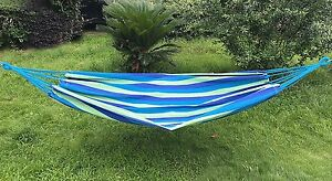 Naval-Style-Cotton-Fabric-Canvas-Hammock-Tree-Hanging-Suspended-Outdoor-Bed-New