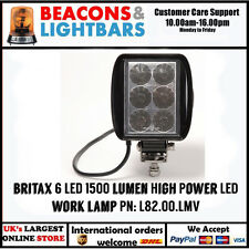 Britax 6 LED 1500 Lumen High Power LED Work lamp PN:  L82.00.LMV