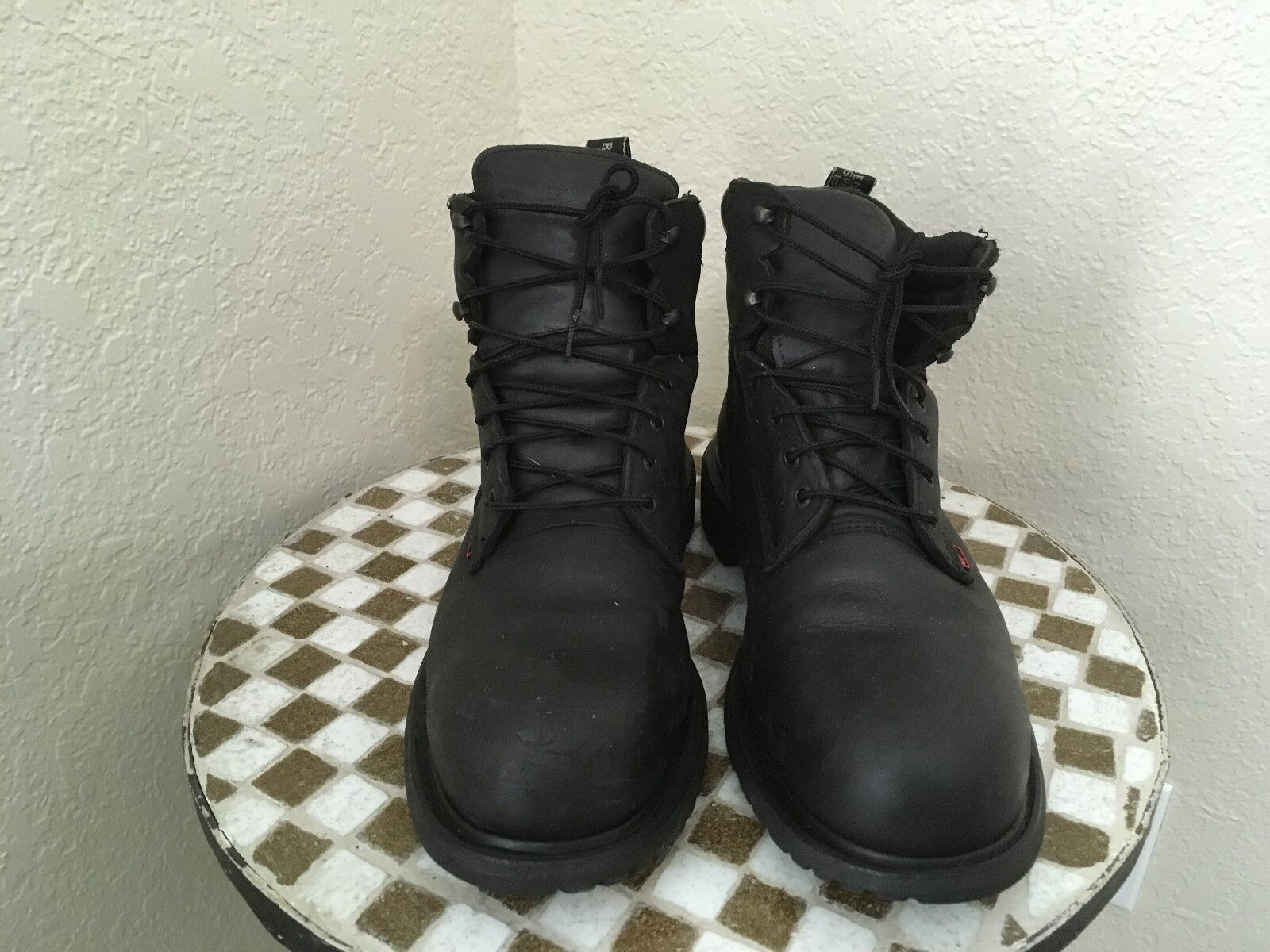 STEEL TOE MADE IN USA LACK  LEATHER LEATHER LEATHER 4217 rot WING WORK CHORE TRUCKER Stiefel 12 D 55c32a
