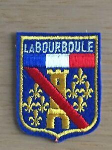 Ecusson blason brodé La Bourboule années 60
