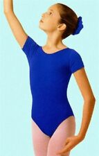 Mondor 496 Royal Blue Child Size Large (10-14) Short Sleeve Leotard