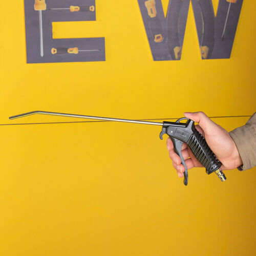 deli 400mm Long Pressure Air Blow Gun Nozzle Duster Blower Dust Dirt Oil Cleaner