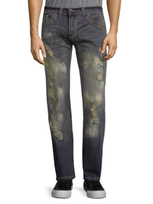 Affliction Herren Cooper Stiefelcut-Jeans Größe 40 X 33.5 Nwt Detroit Wash