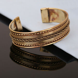Bracelet-Women-Cuff-Copper-Magnetic-Pain-Relief-Arthritis-Bangle-Therapy-Healing