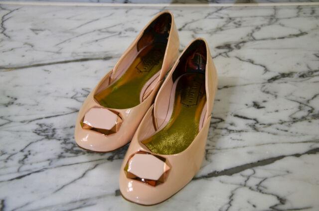 ae7a721a65a8 Ted Baker PEEKAY - Brooch Ballerina Flat Shoe - Color  Nude Size  7US 5UK