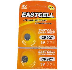 2-x-CR927-3V-Lithium-Batterie-30-mAh-1-Blistercard-a-2-Batterien-EASTCELL