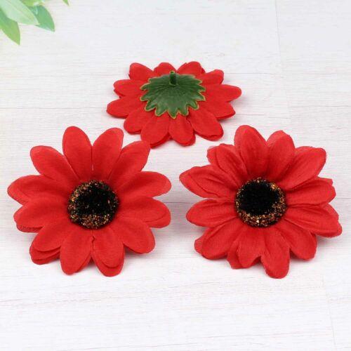 NEW Gerbera Sunflower DIY Silk Artificial Flowers Head Wedding Party Decorations