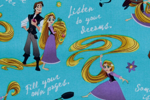 Disney Tangled Listen to Your Dreams 100/% Cotton Rapunzel Fabric
