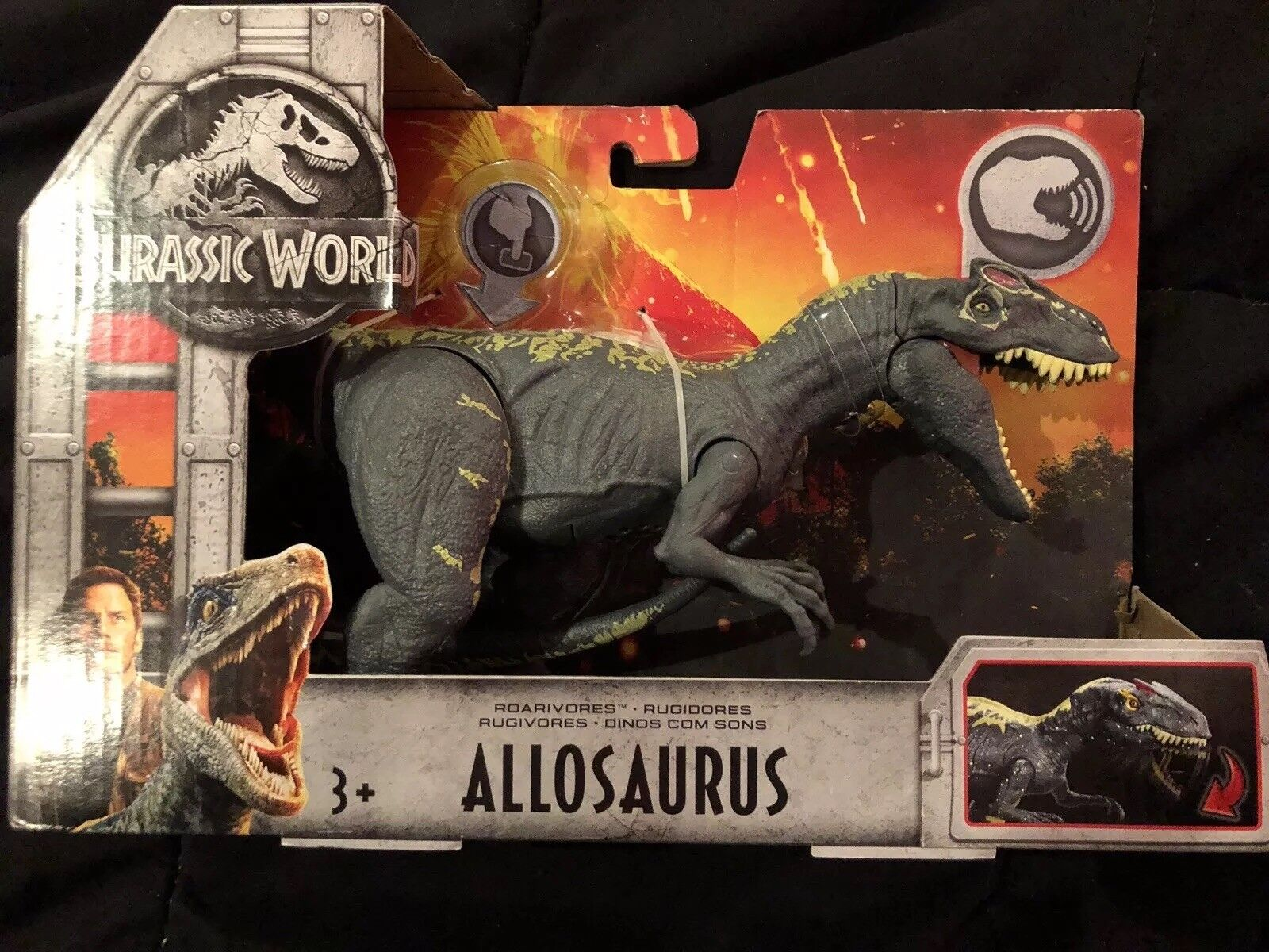 Jurassic welt gefallen roarivores allosaurus' action - figur.