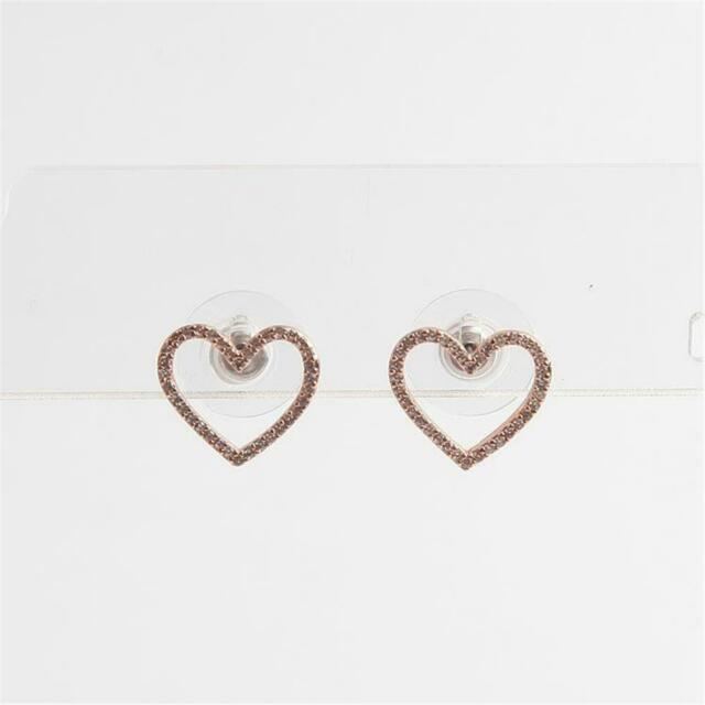 Kate Spade New York Scrunched Rose Gold Pave Heart Stud Earrings