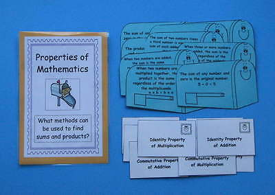 Teacher Made Math Center Resource Game Properties of Mathematics