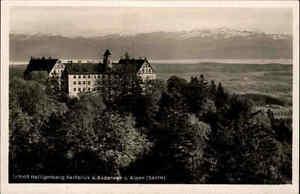 Schloß Heiligenberg Ansichtskarte ~1930/40 Fernblick auf den Bodensee und Alpen